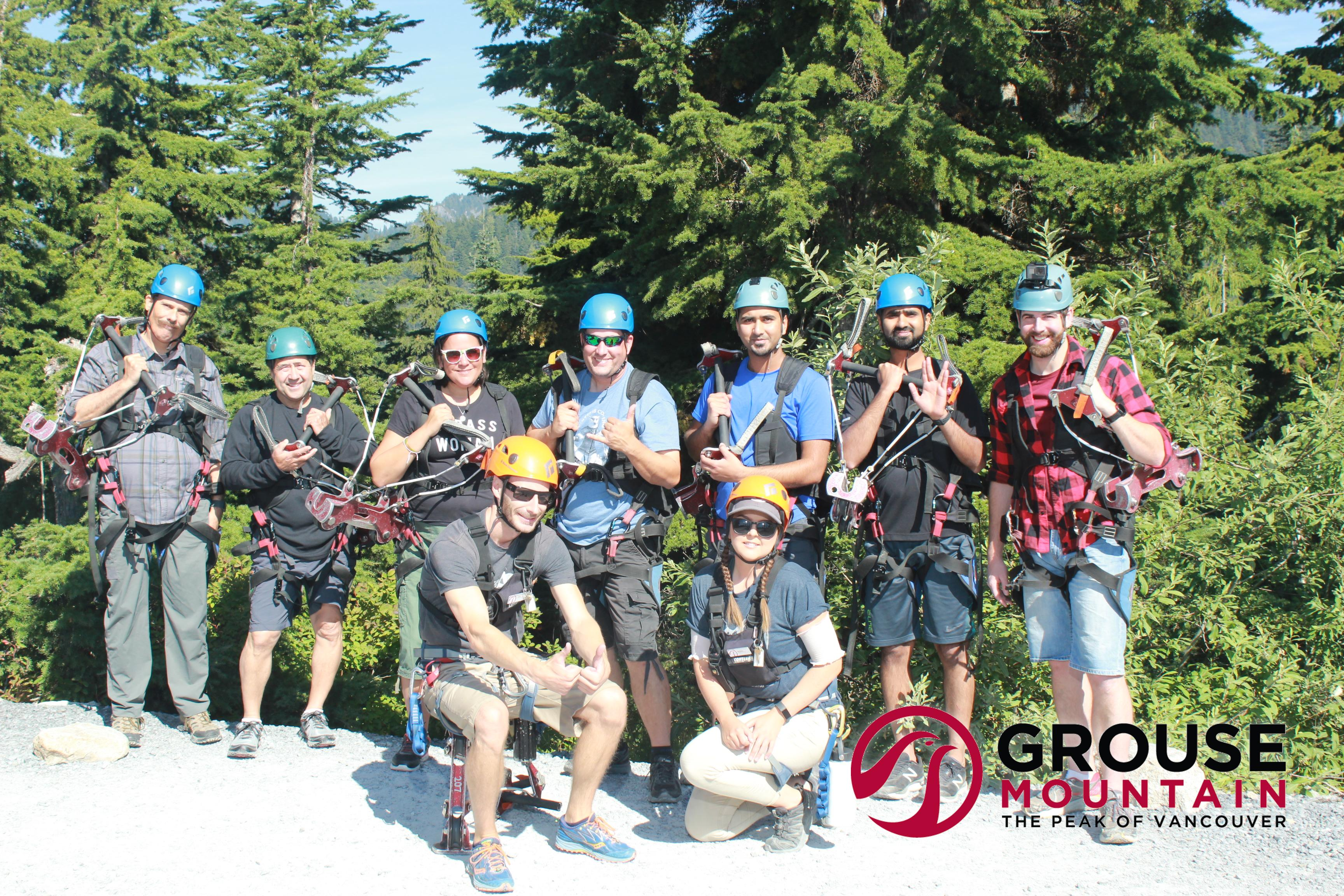 Grouse Mountain Zip Line Crew #thisis40
