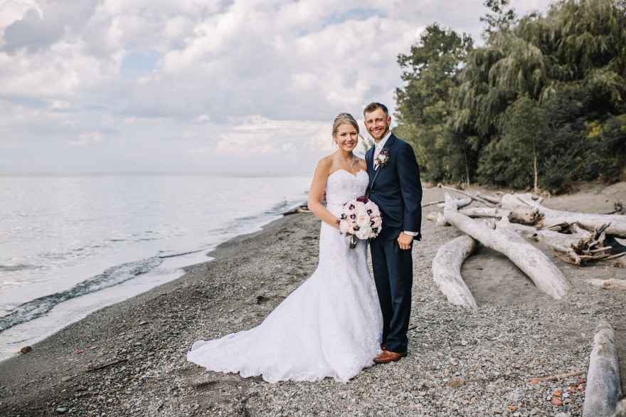 Mr. & Mrs. Kempinski - Lake Erie Bluffs - Northeast Ohio Wedding Photographer
