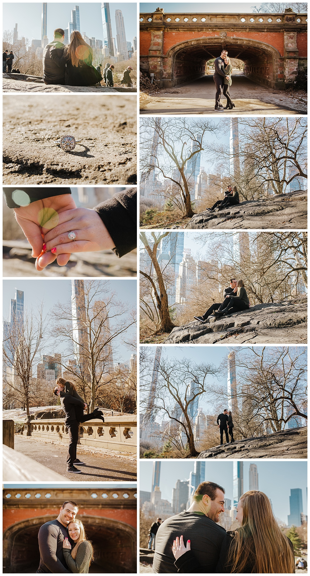 Central Park - NYC Destination Engagement Session - Sara & Tim