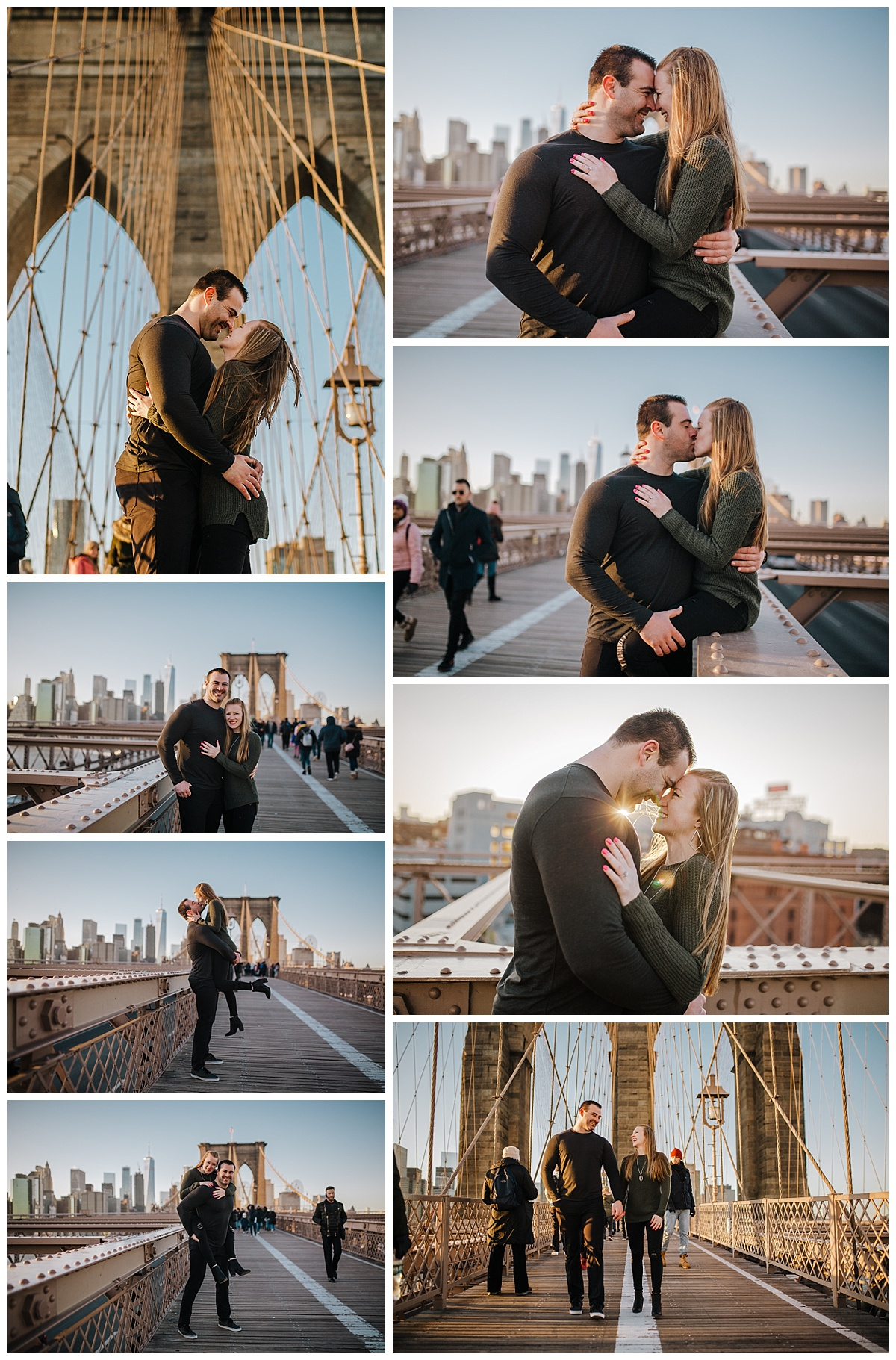 Brooklyn Bridge - NYC Destination Engagement Session - Sara & Tim