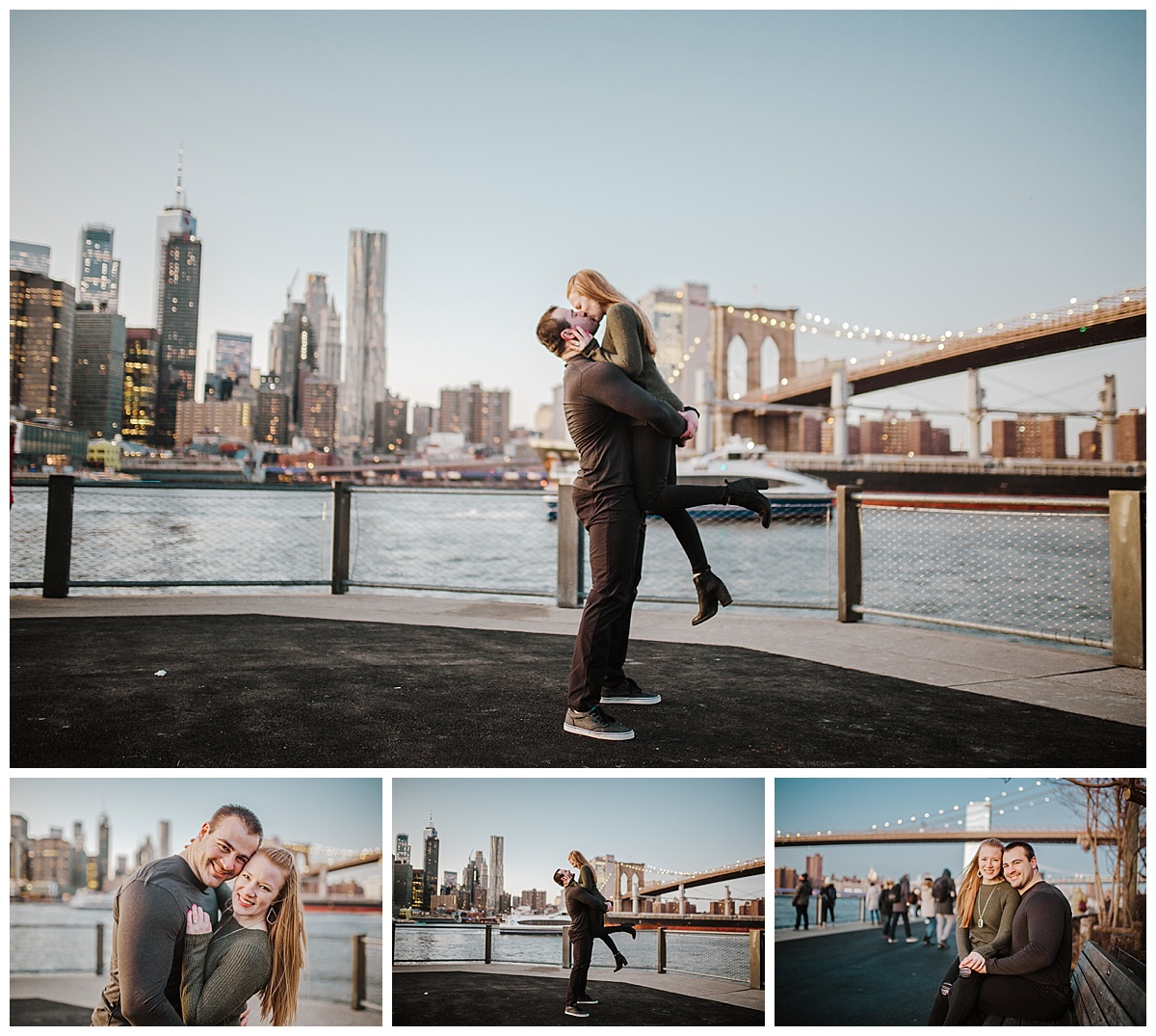 Brooklyn Bridge Park - NYC Destination Engagement Session - Sara & Tim