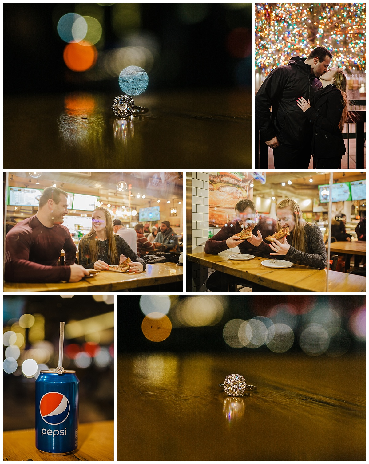 New York City Pizza Shop - NYC Destination Engagement Session - Sara & Tim