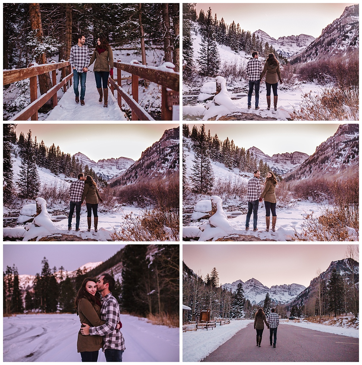 Maroon Bells Colorado Engagement Session - Rachel & Matt - Lindsay Dawn Photography