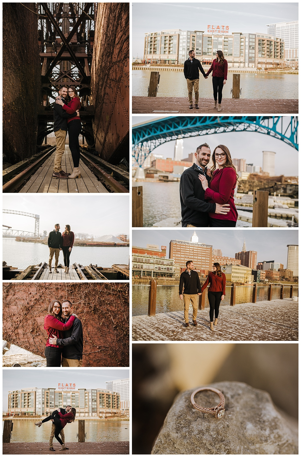 Cleveland Flats Engagement Session - Rachel & Matt - Lindsay Dawn Photography