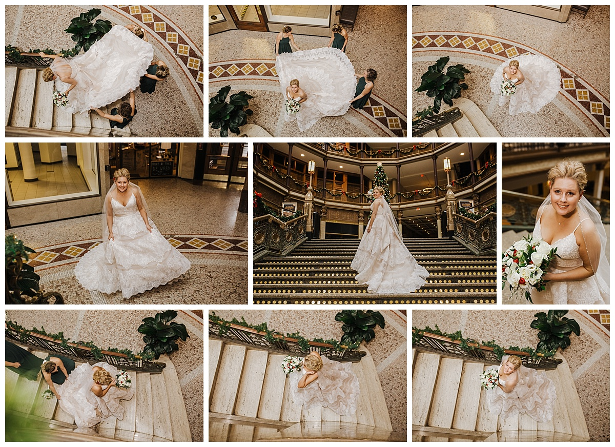 Mr. & Mrs. Lewis - Christmas Themed Wedding - The Hyatt Regency Cleveland at the Arcade - La Vera Party Center- Lindsay Dawn Photography