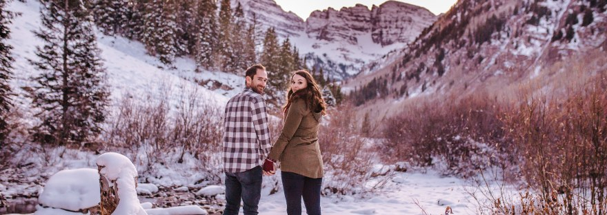 Maroon Bells Colorado Engagement Session - Rachel & Matt